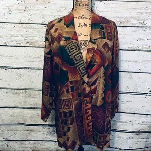 Vintage Diana Marco Geometric Design Blazer